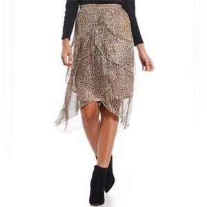 Reba Tiered Leopard Mini Skirt